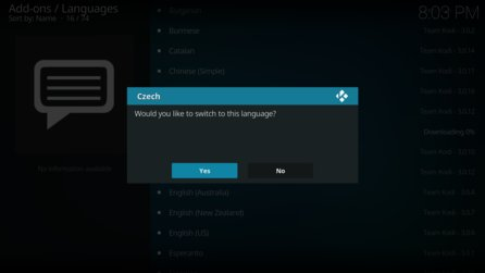 Kodi Switch Language