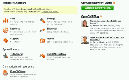 Dashboard OpenDNS