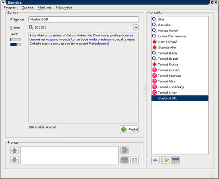 Esmska for Linux full screenshot