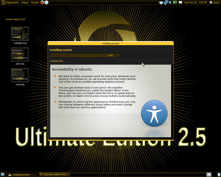 Ultimate Edition 2.5, zdroj forumubuntusoftware.info