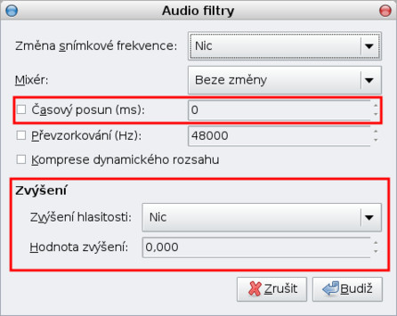 Audio filtry