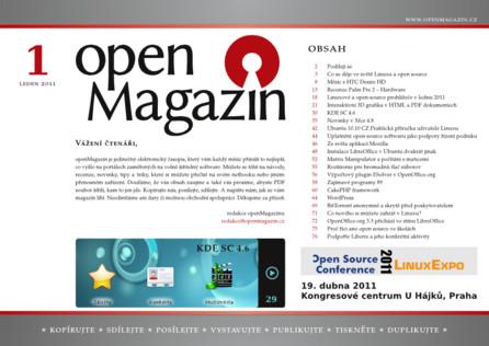 Kliknutím na obrázek si stáhnete openMagazin 01/2011 ve formátu PDF