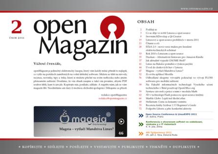 Kliknutím na obrázek si stáhnete openMagazin 02/2011 ve formátu PDF