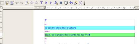 Automaticky vybraný překlad z vlastní překladové paměti