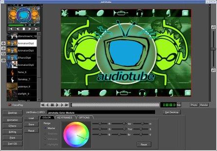 Jahshaka přidá do videa efekty, stejně jako Adobe After Effects