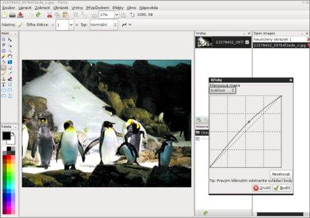 Pinta má podobné rozhraní jako Adobe Photoshop, foto Rusty Haskell