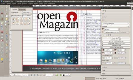 Scribus je komplexní nástroj na sazbu, který hravě nahradí Adobe InDesign