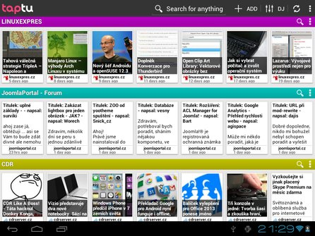 Taptu pro Android – Tablet s Androidem 4.0