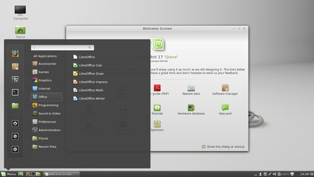 Cinnamon na Linux Mint 17 (screenshot Sannaj, CC BY-SA 3.0)