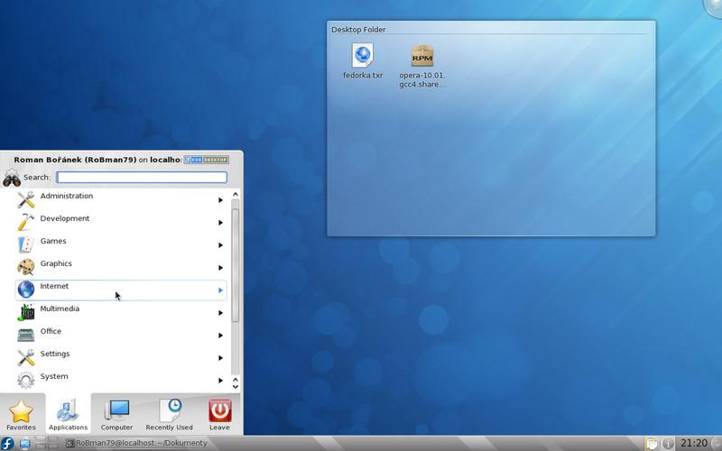 KDE 4.3 je ve Fedoře dobře použitelné