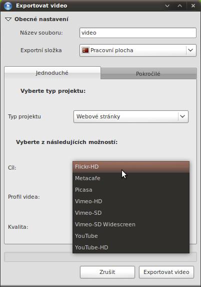 Export na míru pro video servery