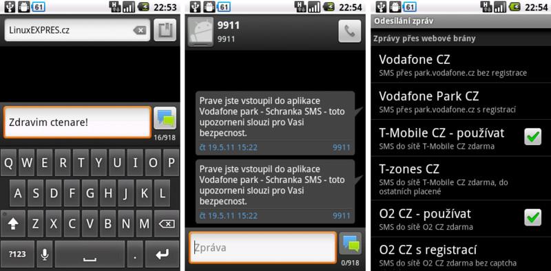 Free SMS Sender – SMS přes internetové brány jednoduše