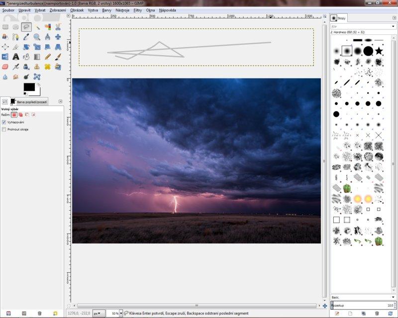 GIMP v jednom panelu ve Windows7