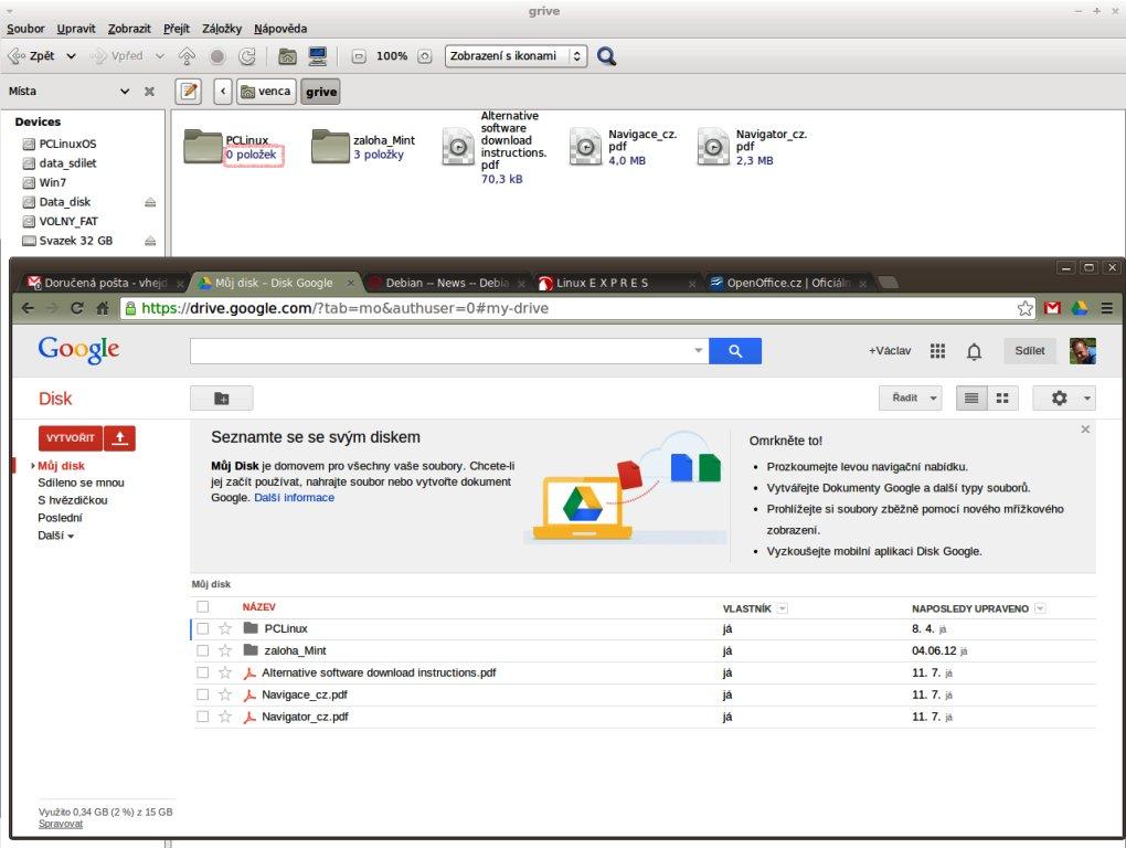 Grive – Google Disk v Linuxu - Linux E X P R E S