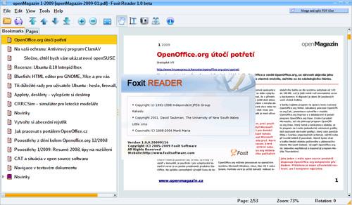 PDF prohlížeč Foxit