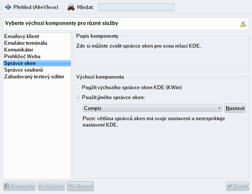 Správce oken Compiz v KDE4