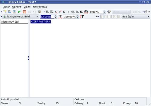 Vloženie textu do textového rámca