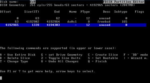 Delenie diskových oddielov vo FreeBSD