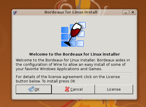 Bordeaux si po inštalácii v prostredí GNOME vytvorí menu