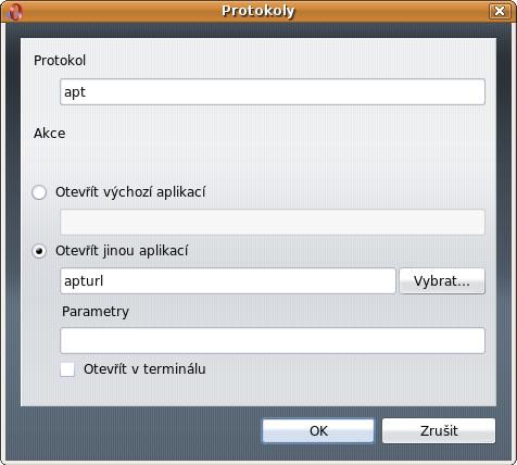 Nastavení Opery pro správnou funkčnost s AptUrl