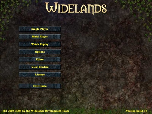 Nabídka hry Widelands