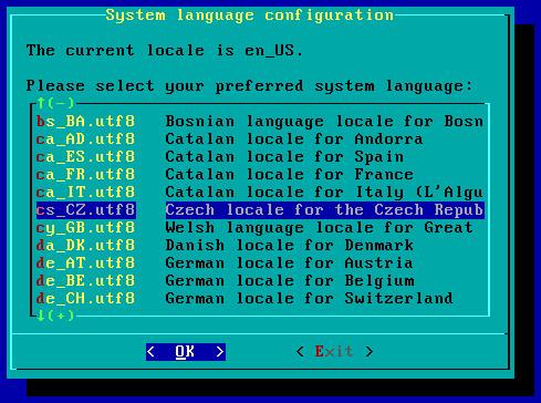 Nastavení jazyka