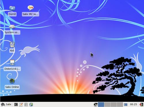 Takhle vypadá Salix OS