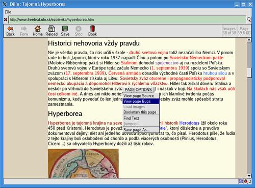 Ak na stránke nie sú chyby, voľba View page  bugs bude neaktívna (nie v tučnom písme)