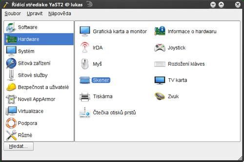 Spouštění konfigurace skenerů v YaST2