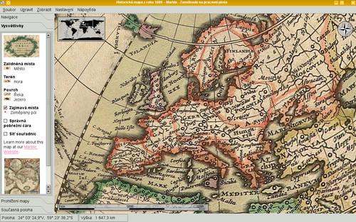 Historická mapa z roku 1689