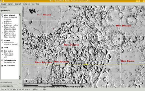 Plochá projekce Měsíce