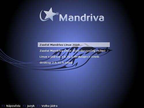 Po instalaci více jader si v nabídce GRUB vyberete buďto starší, nebo volbou 'Zavést Mandriva Linux 2010' nejnovější jádro