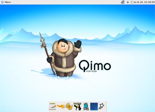 Takhle vypadá Qimo po přihlášení