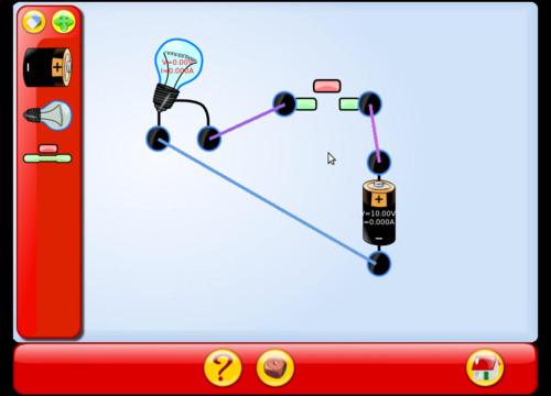 Jednoduchý elektrický obvod se žárovkou