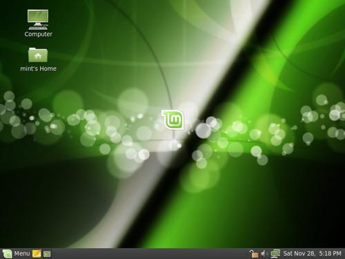 Linux Mint 8 s GNOME, zdroj linuxmint.com