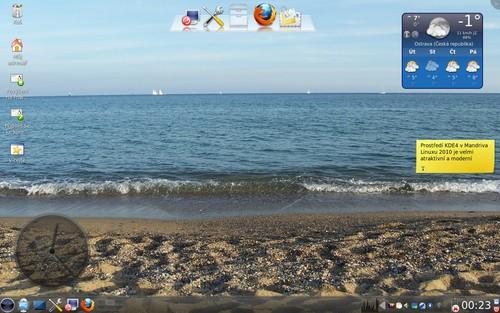 Upravené KDE4 v Mandriva Linuxu 2010