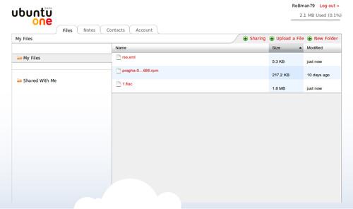 Ubuntu One: Webrozhraní by slušelo více možností