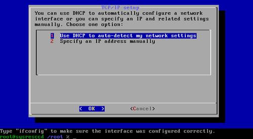 Nastavení z DHCP, nebo ruční