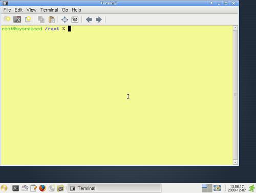 Grafické prostředí SystemRescueCd