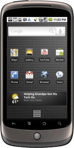 Nexus One, zdroj google.com