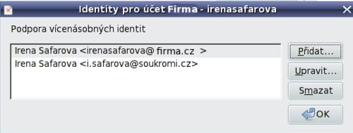 Další e-mailová adresa k použití