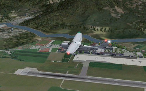 Pohled na letoun