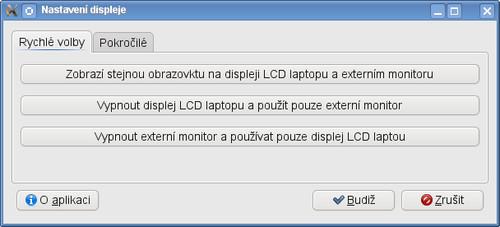 LXRandr - rychlé volby pro více monitorů