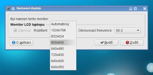 LXRandr - nastavení rozlišení monitoru