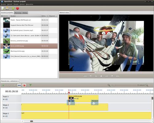 Časová osa a běžící náhled videa