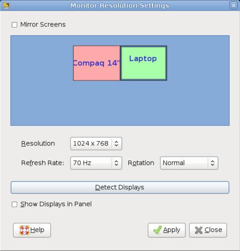 Nové ovládání rozlišení obrazovky