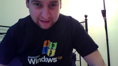 Lukáš Zapletal natočený webkamerou v notebooku ThinkPad X100e