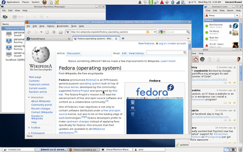Snímek obrazovky nové Fedory, zdroj fedoraproject.org