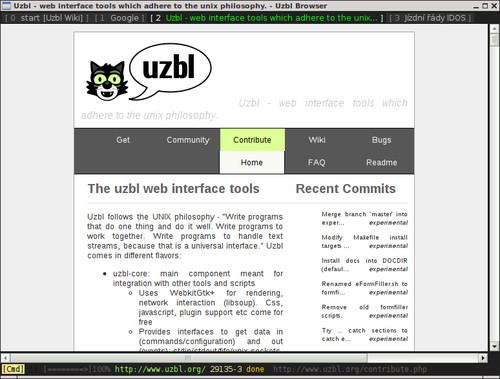 I v Uzblu lze používat více karet při procházení webu