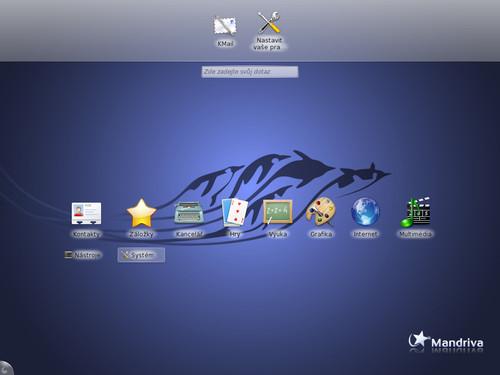 Plocha KDE v úpravě pro netbooky